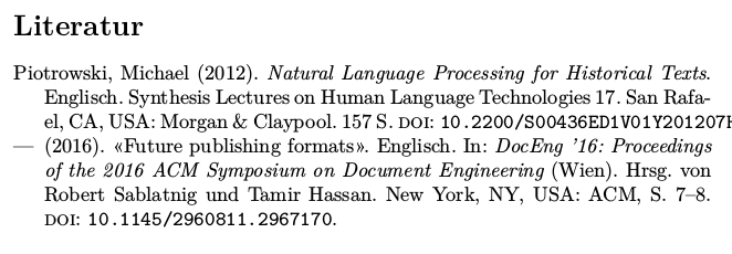 Localizing Place Names in Bibliographies
